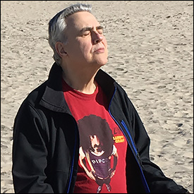 Dr. Smith Meditates at the Beach